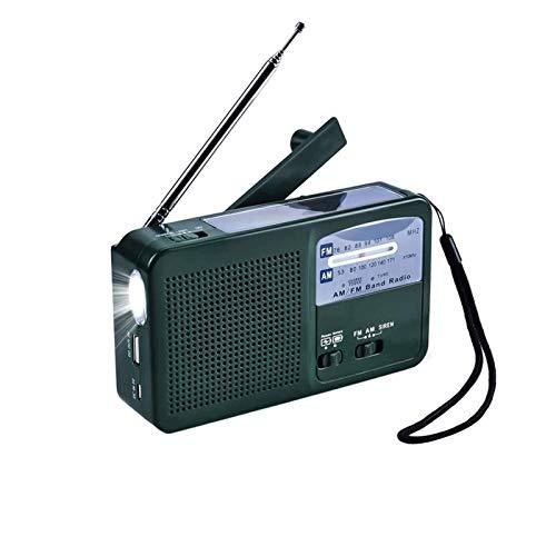 Sdesign Radio Solar de Viento, Radio de Emergencia Radio Dynamo Radio con Cargador de teléfono USB Recargable, antorcha de Linterna |Uso de Emergencia para Acampar, Senderismo.