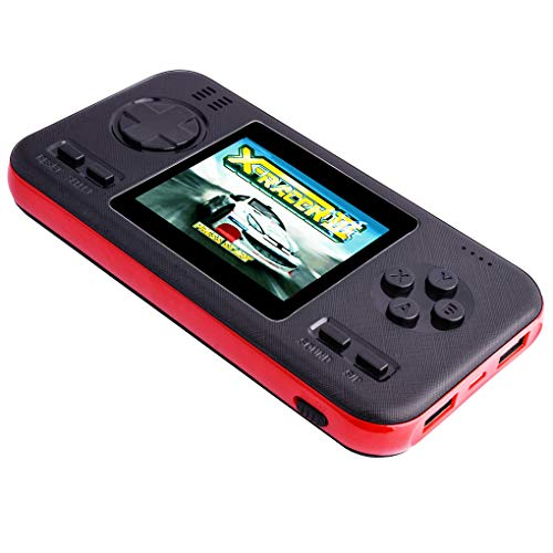 Portable Handheld Game Console and Power Bank, Built in 218 Classic...