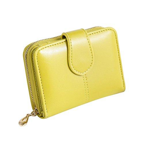 Good01 Portafoglio da donna in finta pelle, piccolo titolare della carta corta borsa regalo di Natale Verde frutta Taglia unica