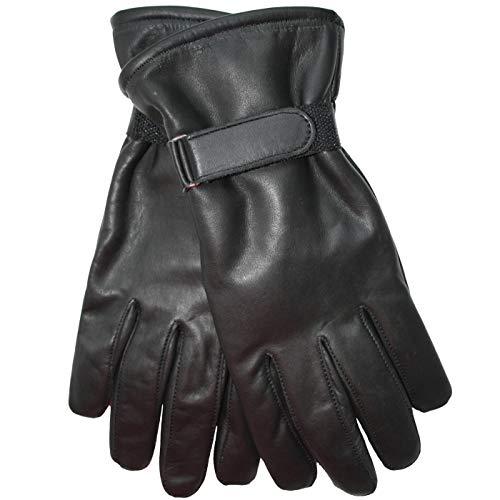 German Wear Lederhandschuhe Lammnappa Handschuhe echtleder winter Handschuhe, S=6 Handumfang 17cm, GL-1 Schwarz
