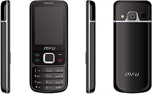 Lettore musicale con fotocamera dual SIM sbloccata con MFU, radio FM con auricolari da 3,5 mm, telefono economico in standby di 10 giorni Bluetooth (nero)