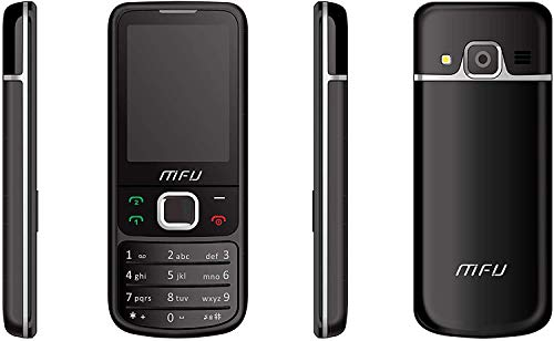 MFU entsperrt Dual-SIM-Handy, Kamera, Musik-Player, 3,5-mm-Kopfhörer, FM-Radio, Bluetooth, 10-Tage-Standby, Billiges Handy (schwarz)