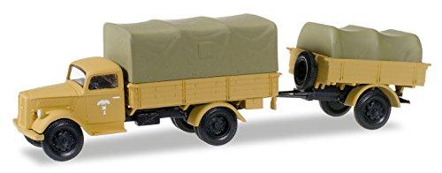 Herpa 745291 – Opel Blitz planifier Camion avec Benne Remorque et Recharge Corps Afrique