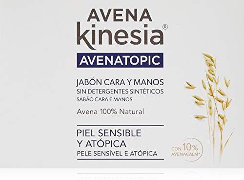 Avena Kinesia - Jabón para manos y cara, 1 unidad, 100 g
