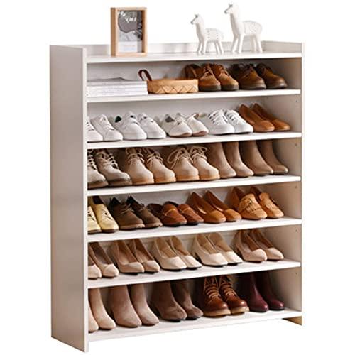 Equipo para el hogar Caja de zapatos Hogar Gran capacidad Entrada de múltiples capas Gabinete de zapatos Balcón Escalera Entrada de almacenamiento Sala de estar Zapatero Zapatero de madera (Color: