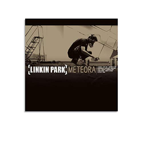 NZZZ Legend of The Band Linkin Park Meteora Album Cover Poster Decorative Painting Canvas Wall Art Living Room Posters Bedroom Painting 12x12inch(30x30cm)