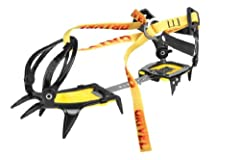 A light-weight, universal crampon Fully adjustable by hand, without tools and one size fits all G10 folds easily for transportation