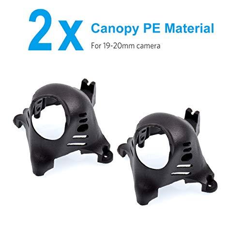 BETAFPV 2pcs Mini FPV Canopy PE Black for 19-20mm Camera Like Caddx Ratel Turtle V2 Camera X-Knight Beta85X HD Beta75X HD FPV Whoop Drone Quadcopter