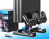 ElecGear Playstation 4 Refrigeración Soporte Vertical con Ventiladores, Estación de...