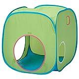 IKEA イケア BUSA 子供用テント (長さ: 72 cm 幅: 72 cm 高さ: 72 cm, グリーン ブルー)