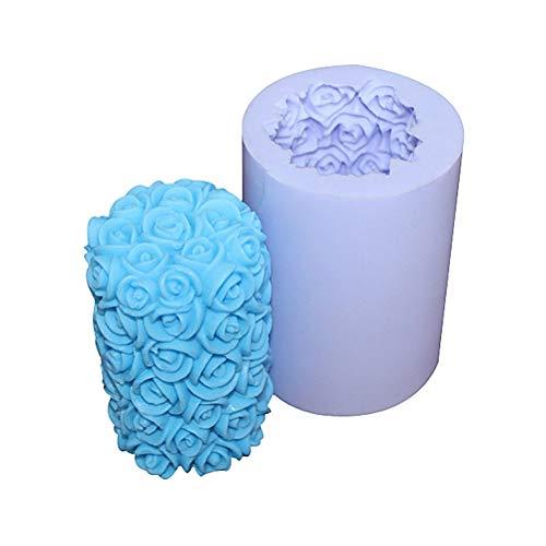 Hemore Moules en silicone pour bougies romantiques en forme de rose - Pour loisirs créatifs, Halloween, Noël, Thanksgiving, décoration
