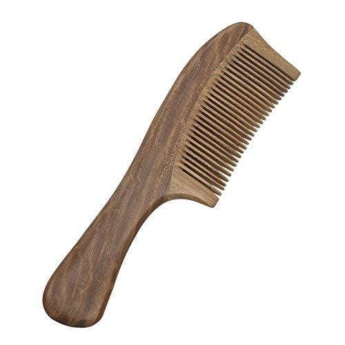 Layhou 1 pc legno pettine pettine in legno legno di sandalo naturale fatto a mano diafana dolce pettine fatto a mano in legno