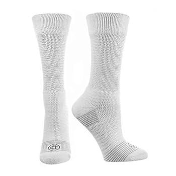 Doctor s Choice Men s Diabetic & Neuropathy Crew Socks 2-Pairs White Large