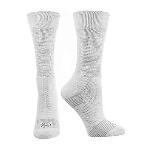 Doctor's Choice Men's Diabetic & Neuropathy Crew Socks, Non-Binding Cushion Crew Sock with Aloe,...