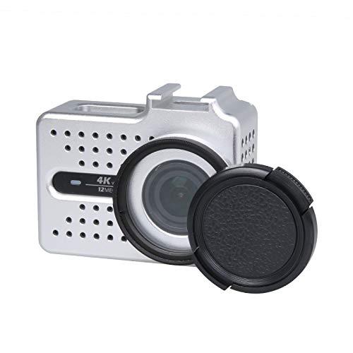 Hangmao - Carcasa protectora para cámara de aleación de aluminio con filtro UV y tapa protectora de lente para Xiaomi Xiaoyi Yi II 4K Sport Action Camera (color: rojo)