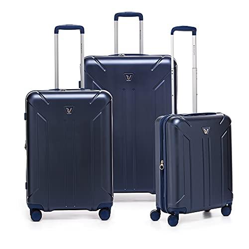 RONCATO Link Set 3 maletas rígidas ampliables con toma USB azul marino