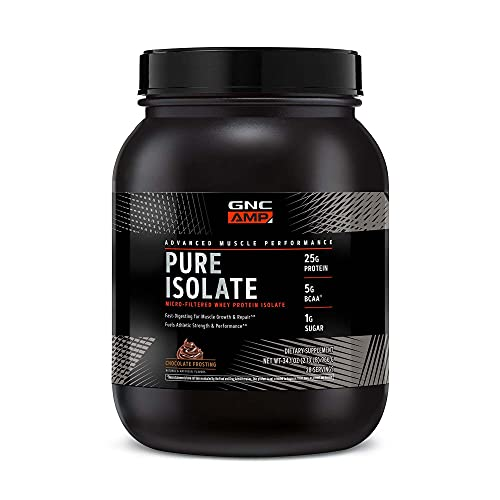 GNC AMP Pure Isolate Whey Protein - Chocolate Frosting