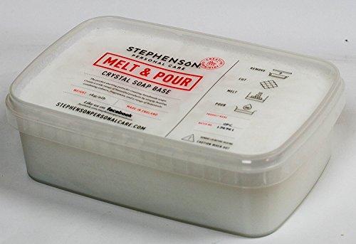 Stephenson STEP-FoamingBB Foaming Bath Butter Melt and Pour Soap Base-2lb, White