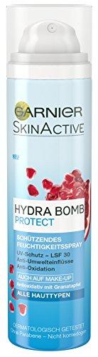 Garnier SkinActive Hydra Bomb Protect Feuchtigkeitsspray, erfrischt die Haut und schützt vor UV-Strahlung und Umwelteinflüssen, antioxidativ, 3er Pack (3 x 75 ml)