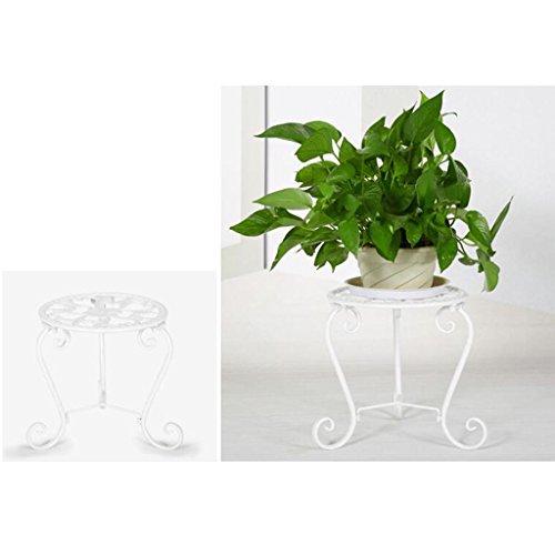 Étagères à Fleurs polyvalentes Fer Fleur Pot Rack Salon étage Balcon Fleur Ornements pour intérieur et extérieur (Couleur : Blanc)