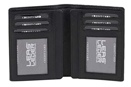 LEAS Ausweismappe, Kreditkartentasche Echt-Leder, schwarz Card-Collection
