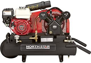 NorthStar Gas-Powered Air Compressor - Honda GX160 OHV Engine, 8-Gallon Twin Tank, 13.7 CFM at 90 PSI