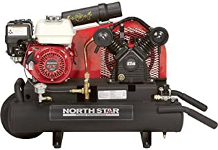 NorthStar Gas-Powered Air Compressor - Honda GX160 OHV Engine, 8-Gallon Twin Tank, 13.7 CFM at 90 PSI