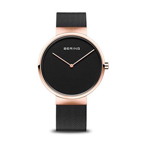 Bering Montre Bracelet Mixte, analogique, à Quartz, en Acier Inoxydable 14531-166