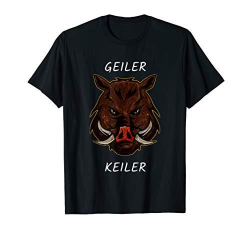 Geiler Keiler Wildschwein Geschenk für Jäger T-Shirt
