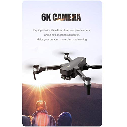 UKtrade Foldable Drone, 8811 PRO GPS 5G WiFi FPV 6K Camera Brushless Double camera/3D Flips/Headless Mode/One Key Return/Selfie Double Camera MV Image and Video Sharing, with A portable Bag
