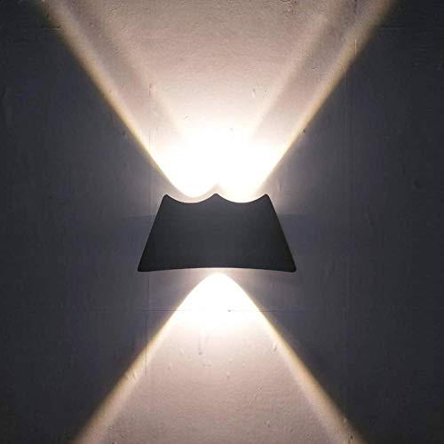 MJSM Wandlampen, moderne verlichting, woonkamer, minimalistisch, nachtlampje, hal, tuin, licht, buiten, waterdicht, neutraal licht, zwart, 3 W