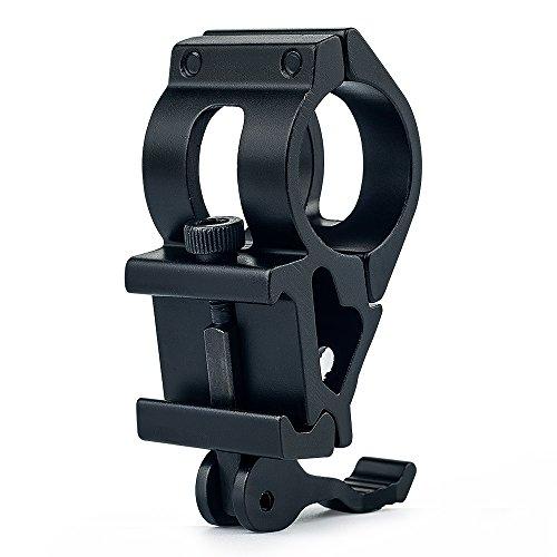 UniqueFire Anillos adaptadores de montaje T2008K/ Anillo adaptador/ Montaje en riel Anillo de 25,4 mm para antorcha de visión nocturna/ Telescopio de alcance/ Telescopio óptico (Negro)
