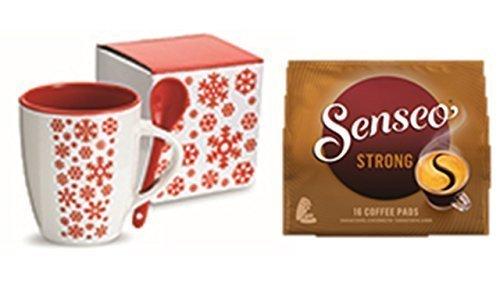 Senseo Monodosis kräftig/Strong, Intensivo y vollmundiger sabor, Café, Nuevo Diseño, 16Cápsulas +-Taza...