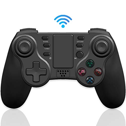 Mando PS4 Inalámbrico, Maegoo Bluetooth Game Mando Gamepad Joystick para Playstation 4 con Dual Shock/ 6-Axis Gyro Sensor/ Touch Panel/ Auricular Jack, Compatible con PS4/PS4 Slim/PS4 Pro