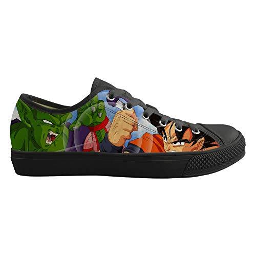 Csqw Segeltuchschuhe für Unisex Kinder und Jugendliche Turnschuhe Cosplay Schuhe Leinwand Schuhe Sneakers für Frauen und MännerDragon Ball, Geb.-36