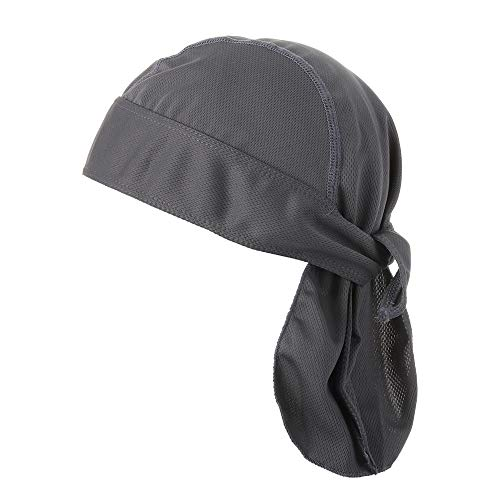 Sport Supplies Atmungsaktive Reithelm Stirnband Radfahren Bandana Fahrrad Kopftuch Piratenkappe Radkappe, grau