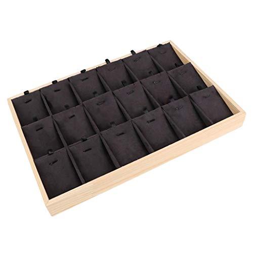joyMerit 18x Tarjetas de Exhibición de Collar Y Aretes Portatarjetas de Aretes, Etiquetas de Collar Que Exhiben Percha para Colgar Collares 35x24x3cm - Terciopelo Negro, Individual