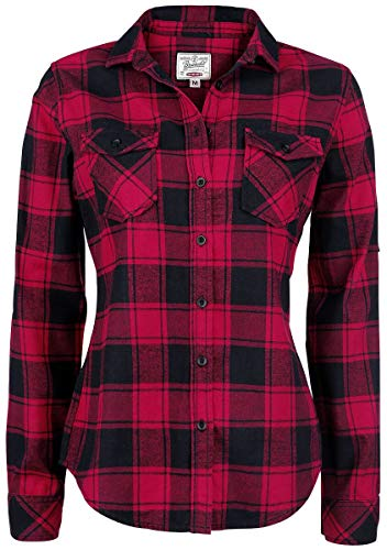 Brandit Amy Flanell Checkshirt Girl-Hemd schwarz/rot - M