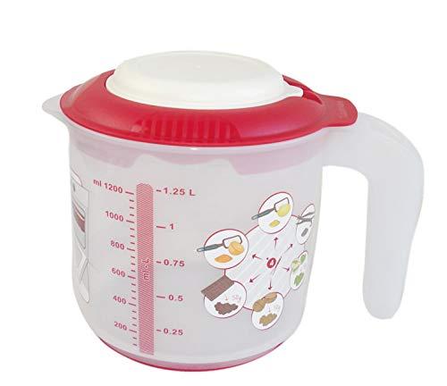 Tupperware Hornear Jarra Medidora Candy Mini 1,25l rojo para mezclar de Mix–Vaso para mezclar P 27330