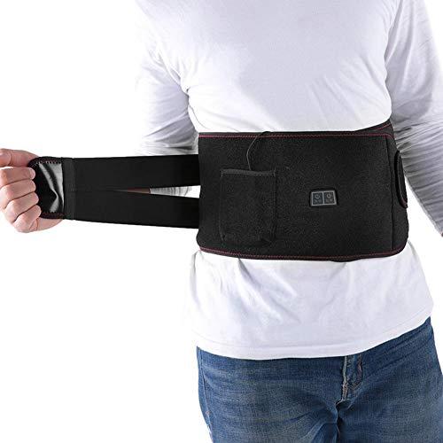 Verwarmde riem, 3 maten Elektrische verwarming Verre infrarood vibratie Heet kompres Taille Ontlast lichaamsverwarming Massage riem - voor een comfortabelere thuiservaring(L)