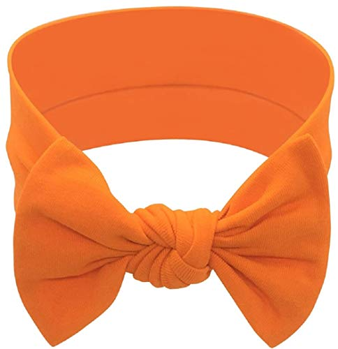Babygiz Baby Girl Headbands-Infant,Toddler Cotton Handmade Hairbands with Bows Child Hair Accessories (Orange, 1)