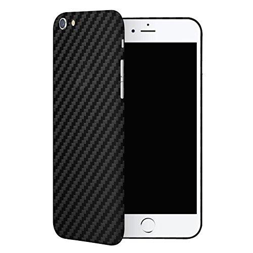 IDTB SKINS Adesivi Skin Sticker Pellicola (Non Custodia Cover),Smartphone Wrapping Ultra Sottile e Resistente Alle Impronte Digitali Caso (iPhone 6, Carbonio Nero)