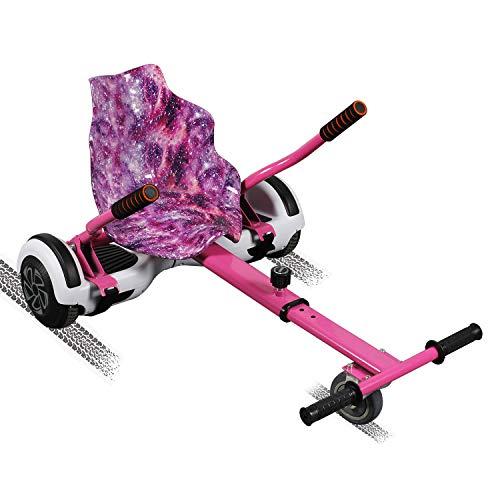 SISGAD Hoverkart Go Kart Hoverkart para Patinete Eléctrico Universal Fijación Ajustable Hoverboard Kart con Asiento Compatible con Balance Board de 6.5, 8.5 y 10 Pulgadas