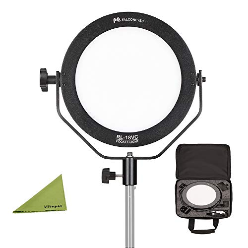 Falcon Eyes RL-18VC Bi-Color 3200-5600K LED Soft Light FlapJack LED Edge Light for Photography Video YouTube Vimeo Portrait Lighting Live Streaming