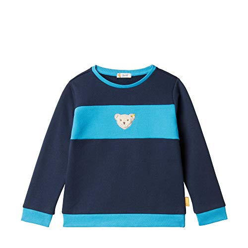 Steiff Baby-Jungen Sweatshirt, Mehrfarbig (BLACK IRIS 3032), 80