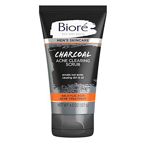 Bioré Men's Charcoal Acne Clearing Scrub with Salicylic Acid 4.5 oz