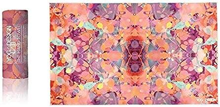 YOGA DESIGN LAB | The Hand Towel | Premium Non Slip Hand Towel | Designed in Bali | Colorful Eco Printed + Quick Dry + Soft | Hot Yoga, Bikram, Ashtanga, Sport, Barre, Travel (Kaleidoscope)