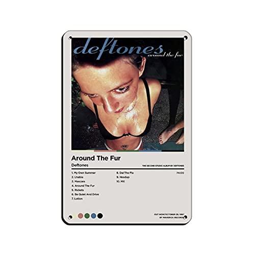 Affiche sur toile « Deftones Around The Fur » pour décoration de chambre à coucher, de sport, de bureau, de chambre, de couleur blanche, 20 x 30 cm