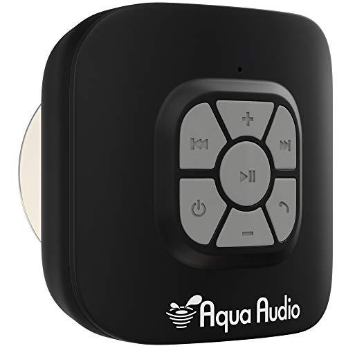 AquaAudio™ Cubo – Altoparlante Wireless Bluetooth Impermeabile con Potente Ventosa per Doccia, Bagno, Piscina, Barca, Auto, Spiaggia, Esterni ecc. / Pulsanti Ottimizzati per un Controllo Semplice / Suono Incredibilmente Potente e Cristallino / Compatibile con Tutti i Dispositivi con Funzionalità Bluetooth + Compatibile con Siri - Batteria Ricaricabile 10 ore di Riproduzione / con Microfono integrato per l'uso come Potente Vivavoce senza utilizzare le mani - Argento