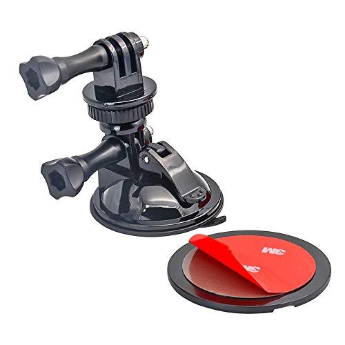 Zuignap Camera Mount voor Auto Voorruit Dashboard, Kom met Statief Mount Adapter en Sticky Dashboard Pad, Camera Houder voor GoPro Hero en Alle Camera's